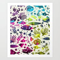 under the sea Art Prints featuring Under The Sea by 83 Oranges™