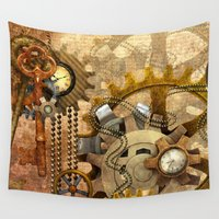 steampunk Wall Tapestries featuring steampunk by Ancello