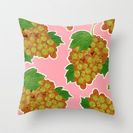 Muscat Grapes Print Throw Pillow
