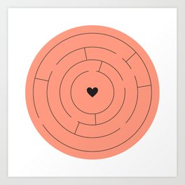 Lost heart Art Print