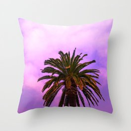 candy palm tree Throw Pillow