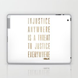 Martin Luther King Typography Quotes Laptop & iPad Skin