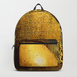 Golden Large Fountain Urns Backpack