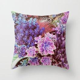 Succulent Garden View Throw Pillow