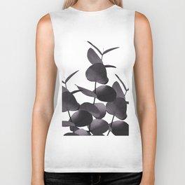 Eucalyptus Leaves Black White #1 #foliage #decor #art #society6 Biker Tank