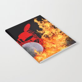 Flaming Red Drum Set Notebook