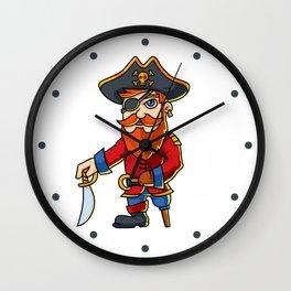 Pirate Cartoon Character Wall Clock