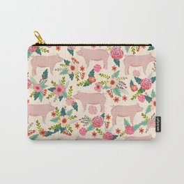 Pig florals farm homesteader pigs cute farms animals floral gifts Carry-All Pouch