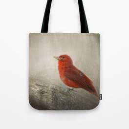 Song of the Summer Tanager 1 - Birds Tote Bag