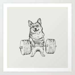 Corgi Lift Art Print