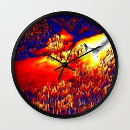 unknown terrain Wall Clock