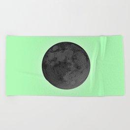 BLACK MOON + LIME GREEN SKY Beach Towel