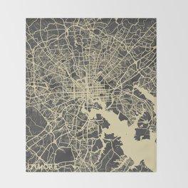 Baltimore map Throw Blanket