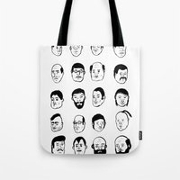 faces Tote Bags featuring Faces by David Penela
