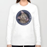 pit bull Long Sleeve T-shirts featuring I ❤ My Pit Bull by Nik Ribble