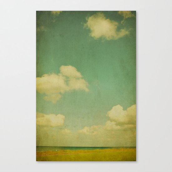 sky beach dyke Canvas Print