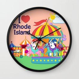 Ernest and Coraline | I love Rhode Island Wall Clock
