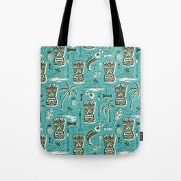 Tropical Tiki - Aqua Tote Bag