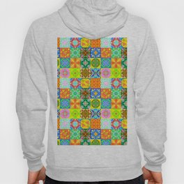 Bohemian Jungle Quilt Tiles 3 Hoody