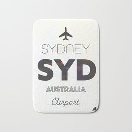 Sydney airport minimal Bath Mat