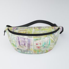 City Watercolour Fanny Pack