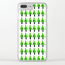 Christmas tree 2-pine,Yule-tree,Christmas,garlands,baubles,tinsel,evergreen,Star of Bethlehem Clear iPhone Case