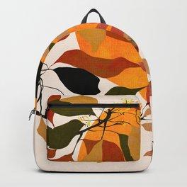 plant leaves autumn boho Backpack