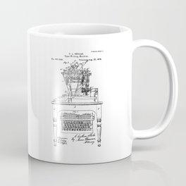 QWERTY Typewriter: Christopher Latham Sholes QWERTY Typewriter Patent Coffee Mug