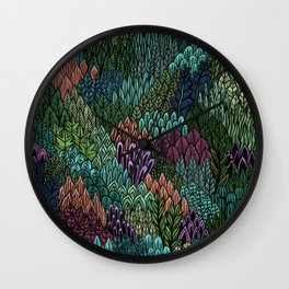 July Leaves Wall Clock