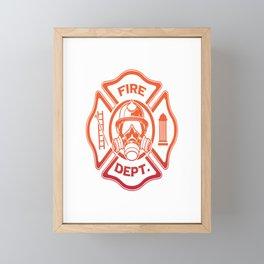 Firefighter in Training Funny Firefighting Gift For A Hero Framed Mini Art Print
