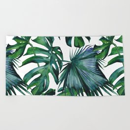 Tropical Palm Leaves Classic Beach Towel