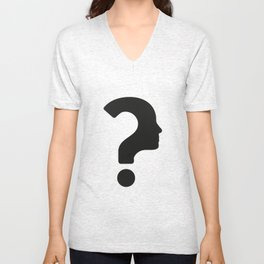 Human Face With Question Mark Unisex V-Neck
