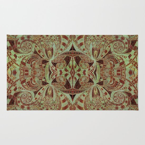 Indian style g234 rug by medusa graphicart society6 for Home inspired by india rug