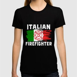 Italian Firefighter Flag T-shirt