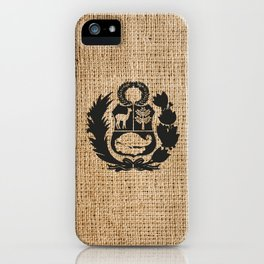 Peru Rustic Shield iPhone Case