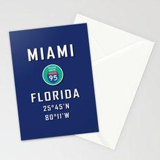 Miami Florida Surf USA Stationery Cards