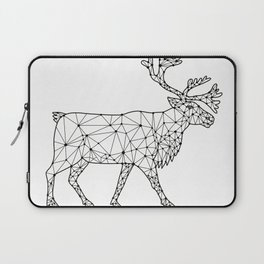 Caribou Side Nodes Black and White Laptop Sleeve