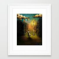 lucy Framed Art Prints featuring Lucy by Joel Pritchard