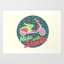 Ride with Style (Natural Beauty) Art Print