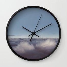 Panorama of clouds over sky Wall Clock