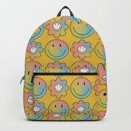 Smiley & Flower Smiley (Yellow Bg) Backpack
