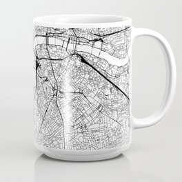 London White Map Coffee Mug