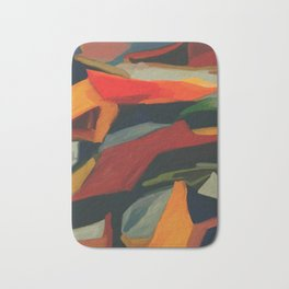 Lessons To Learn Abstract Landscape Bath Mat
