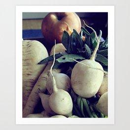 fall veg Art Print