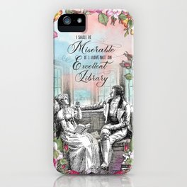 Excellent Library - Pride and Prejudice iPhone Case