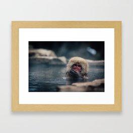 Hot Spring Snow Monkey Framed Art Print