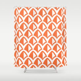 Classic Hollywood Regency Pyramid Pattern 226 Orange Shower Curtain
