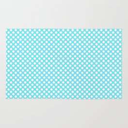 Polka Dots Pattern-Blue Rug