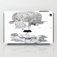 chaplin iPad Cases featuring C. Chaplin by Ina Spasova puzzle