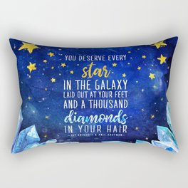 Star and Diamonds Rectangular Pillow
